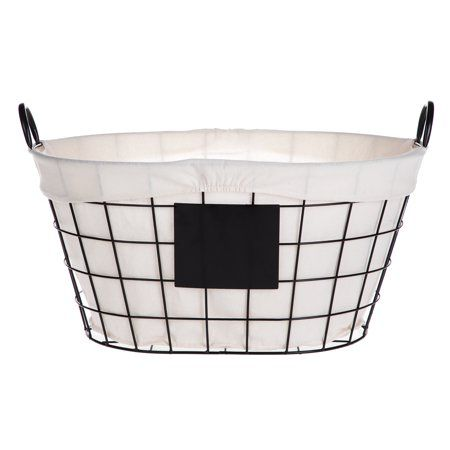 Better Homes And Gardens Wire Basket With Chalkboard Black