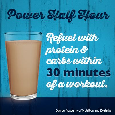 To get the most out of your workout, be sure to refuel with protein and carbs within 30 minutes. Check out some easy ways dairy can power you up:
