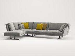 Freeman Corner Sofa System N 3d Model By Design Connected In 2020 Corner Sofa Living Room Designs Sofa