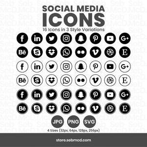 White Social Media Icons Minimalist Social Media Logos Simple Line Icons Instagram Youtube Facebook Tiktok Patreon Etc By Senti Social Media Icons Media Icon Social Media Logos