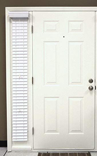 Delta Blinds Supply Faux Wood Sidelight Single Blind For Doors 2 Inch Slats Snow White Outside Mount 10 Wide X 72 Lo Blinds Sidelight Windows Faux Blinds