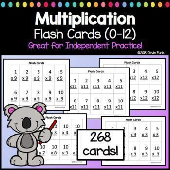 graphic relating to Printable Multiplication Flash Cards 0-12 called Multiplication Flash Playing cards Truth of the matter Teach My Funky To start with