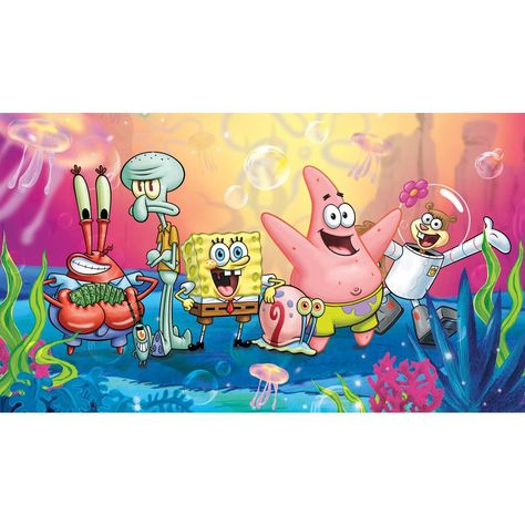 Spongebob Squarepants XL Spray and Stick Wall Mural