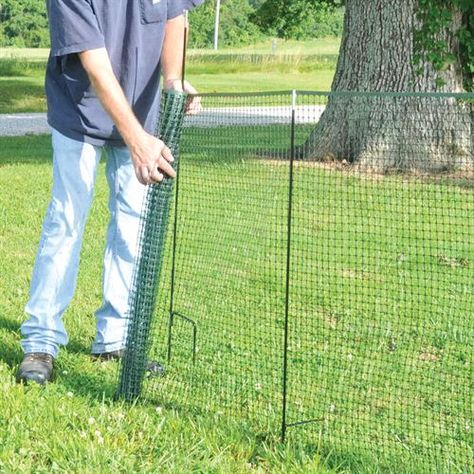 New! One Step Temporary Fencing™ Kit, 50-Ft Fence