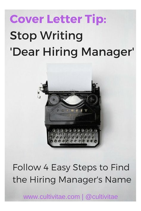 Cover Letter Tips - Stop Writing Dear Hiring Manager and ...
