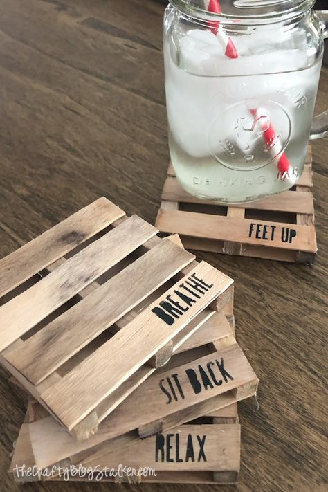 How to Make Mini Pallet Coasters with Popsicle Sticks