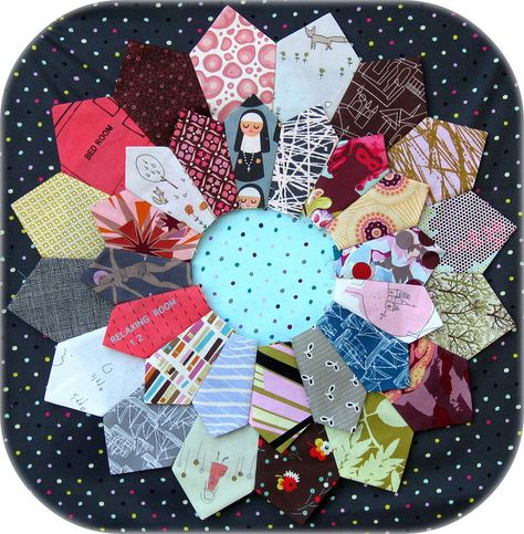 double #Dresden plate #quilt