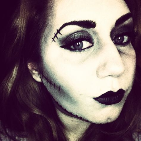 bride of frankenstein halloween halloweenmakeup makeup