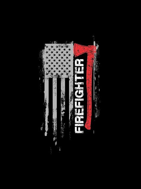 'American Firefighter Shirt' Sleeveless Top by WarmfeelApparel Firefighter Crafts, Firefighter Stickers, Firefighter Decals, Firefighter Apparel, Firefighter Paramedic, Wildland Firefighter, Firefighter Quotes, Firefighter Tattoos, Digital Art