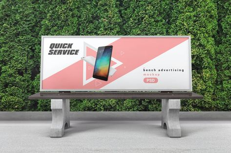 Bench Advertising Mockup by StreetD on Envato Elements