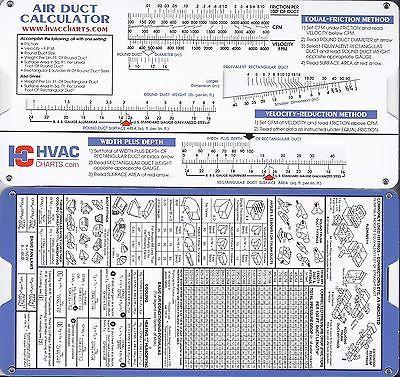 Air Duct Sizing Calculator Slide Chart Hvac Ductulator 736902510476 Ebay Air Duct Hvac Duct Hvac