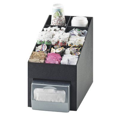 Cal Mil Classic Condiment Organizer Napkin Dispenser Cal Mil Organization Items