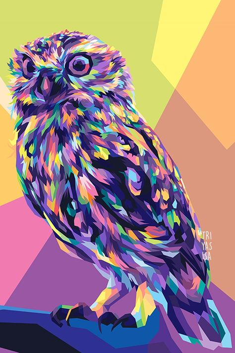 owl illustration in wpap style