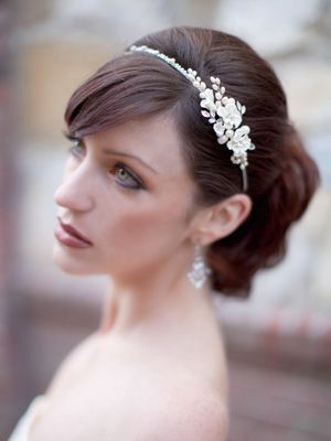 Romantic Floral Tiara by Hair Comes the Bride  www.HairComestheBride.com