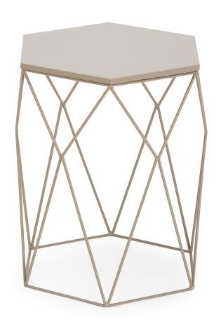 Buy Hexagon Grey Side Table From The Next Uk Online Shop Grey