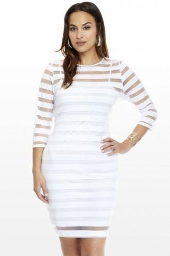 49044a745da8 Newest Exciting Plus Size Women Sexy Club Hollow Out Striped Party Evening  Short Mini Dress