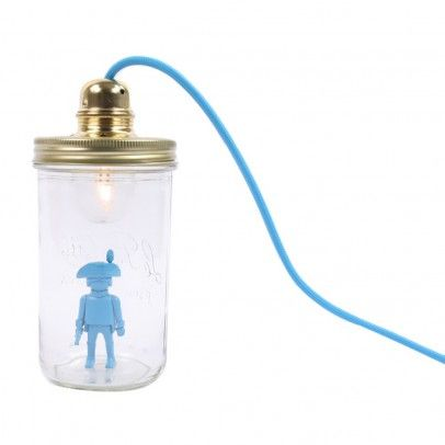 Lampe bocal à poser Playmobil Bleu turquoise La tête dans le bocal - Décoration - Smallable