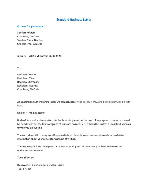 Format Business Letter Templates Zuceiqc Formal Head Rmal With