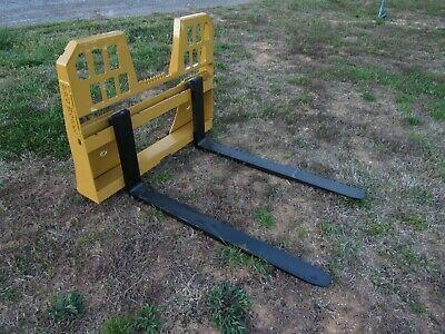 Ad Ebay Url Skid Steer Attachment 48 5 500 Lbs Walk Through Pallet Forks Fits Caterpillar In 2020 Skid Steer Attachments Steer Tractor Attachments
