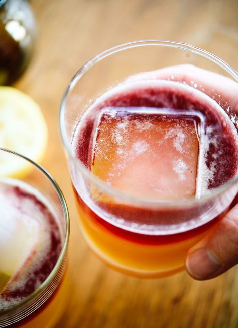 Learn how to make a New York sour cocktail. I sweeten mine with maple syrup instead of simple syrup, which tastes amazing! They're easy to make, too.