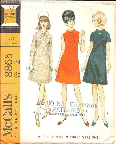 Vintage Sewing Pattern Dress 1960s McCalls 8865  in by TenderLane, $10.00