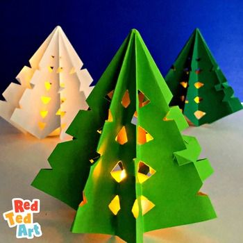 A Fun And Easy Paper Craft For Christmas And Winter Introduce Paper Folding Skillls To Christmas Tree Paper Craft Paper Christmas Tree Christmas Paper Crafts