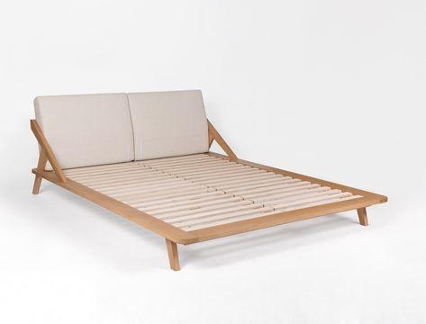 Nordic Space Bett - Holzbett mit gepolsterter Rückenlehne - dream massivholzbett ign design