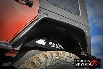 Jk Rear Inner Fender Kit Black Jeep Wrangler Jk Front Fender Armor Poison Spyder Customs Jeep Jeep Wrangler Black Jeep