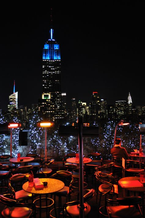 """NYC. Magnificent view from the """"230 Fifth"""" bar lounge terrace"""