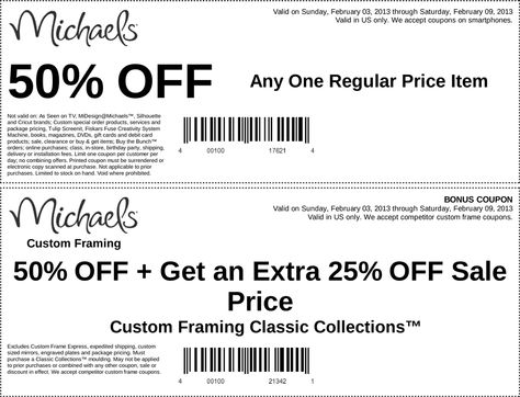 50 off a single item at michaels coupon via the coupons app the coupons app pinterest coupons coupon queen and craft - Michaels Framing Coupon