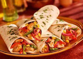 ساندويش فاهيتا الدجاج Fajita Recipe Mexican Food Recipes Food