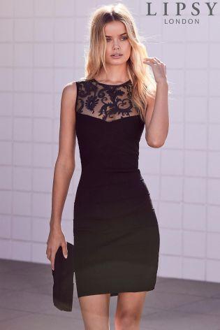Buy Lipsy Sequin Bandage Dress From The Next Uk Online Shop Lipsy Dresses Bandage Dress Black Going Out Dresses