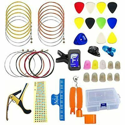 47 Pcs Guitar Accessories Kit Including Strings Picks Guitar Accessories Guitar Capo Acoustic Guitar Strings