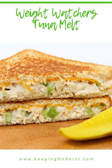 Tuna Melt – Weight Watchers Freestyle - Weight Watchers Tuna Melt – only 6 points for blue, green and purple! Weight Watchers Casserole, Weight Watchers Lunches, Weight Watchers Meal Plans, Weigh Watchers, Weight Watchers Diet, Weight Watcher Dinners, Weight Watchers Desserts, Weight Watchers Points, Weight Watchers Meatloaf
