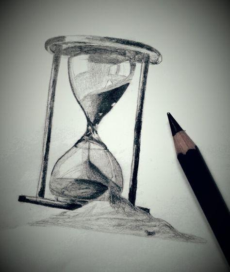 Поздравить маму, картинки песочные часы карандашом