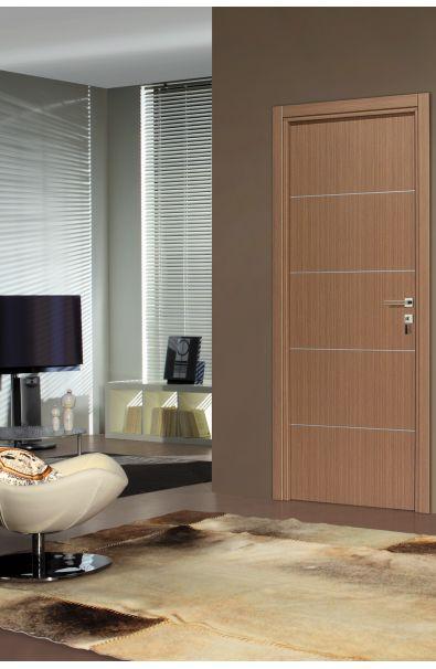 Porte premium Seymour Chêne Blanc Porte intérieur design avec 4 - pose de porte interieur