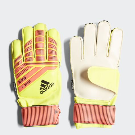 Predator Fingersave Junior Gloves Yellow 7 Kids Gloves Adidas Predator Goalkeeper Gloves