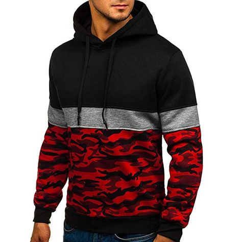 3D Red Beast Digital Print Sweater Long Sleeves with Pockets Round Neck Coat Outdoor Sports Loose Jacket