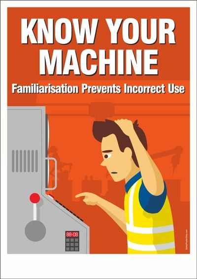 Safety Postere Know Your Machine Safety Poster Shop In 2020 Health And Safety Poster Safety Posters Workplace Safety And Health