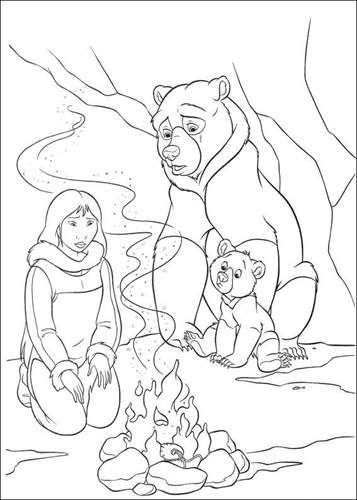 Kids N Fun Com 58 Coloring Pages Of Brother Bear 2 Bear Coloring Pages Brother Bear Art Coloring Pages