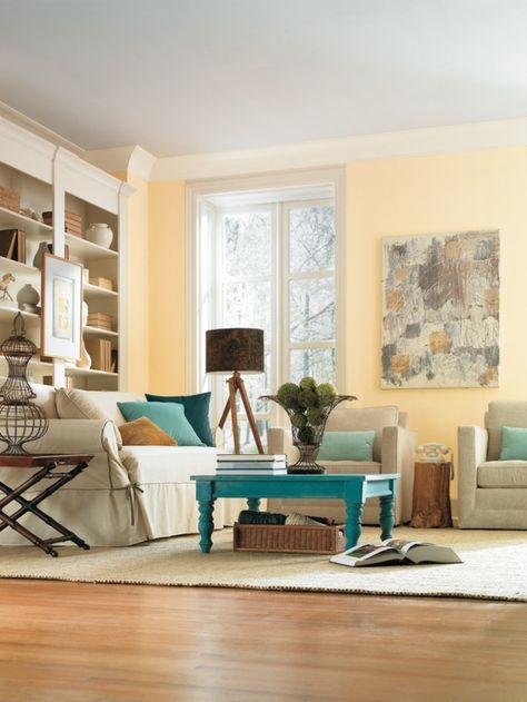 gelbe wandfarbe fürs wohnzimmer - Wohnzimmer streichen \u2013 106 - wohnzimmer gelb streichen