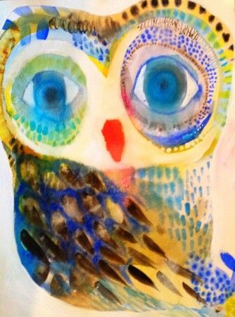 Water Colour Owl by Jessica Breakwell