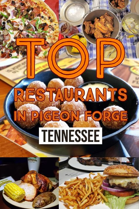 If you're looking for the Top Pigeon Forge Restaurants for families, look no further than these amazing recommendations. Every single one of these eateries is loaded with good food, great prices and options for literally every member of your family. Gatlinburg Vacation, Tennessee Vacation, Gatlinburg Tn, Gatlinburg Tennessee Restaurants, Sevierville Tennessee, Pigeon Forge Restaurants, Pigeon Forge Tennessee, Mountain Vacations, Down South