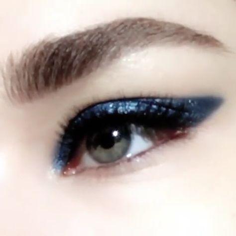 Blue Glitter Eye Makeup Tutorial