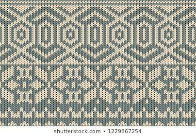 Printable Seamless Vintage Christmas Knit Repeat Pattern Background In Blue Ash Color Wallpaper Raster Illu Weihnachtlich Stricken Strickmuster Baby Stricken
