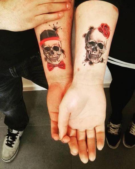 Good Pattern Tattoos Patterntattoos Skull Couple Tattoo Couple Tattoos Unique Skull Tattoo Design