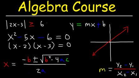 Algebra Course Video Tutorial Sponsored Graphing Linear Equations Graphing Linear Inequalities Solving Quadratic Equations