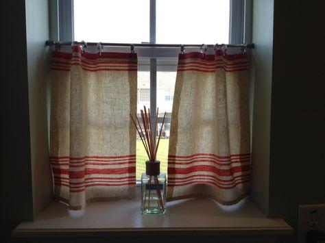 Simple Cafe Curtain DIY
