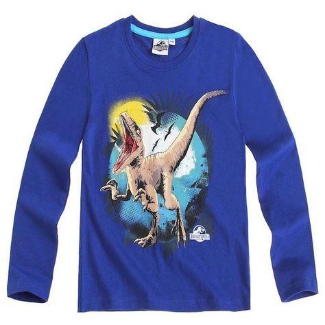 Bestbewertet echt verschiedene Stile Sonderangebot Kids Official Blue Jurassic World Raptor Print Long Sleeve T ...