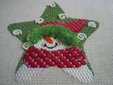 Maggie star snowman ornament